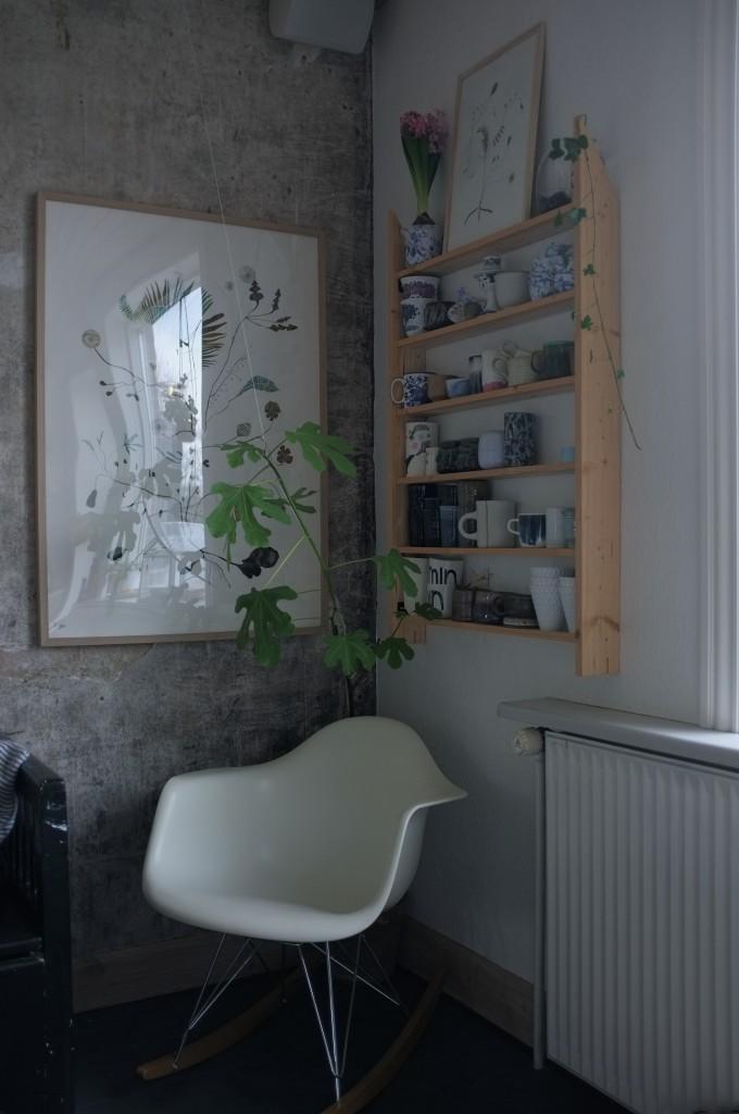 Beton væg køkken